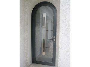 Porte cintrée verre