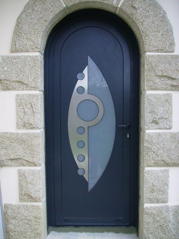 Porte cintrée en aluminium Heptox
