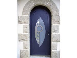 Porte cintrée aluminium